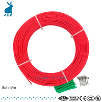 F48K 100meters 8ohm Carbon fiber heating cable PTFE Teflon heating cable Heating wire silicon rubber heating cable