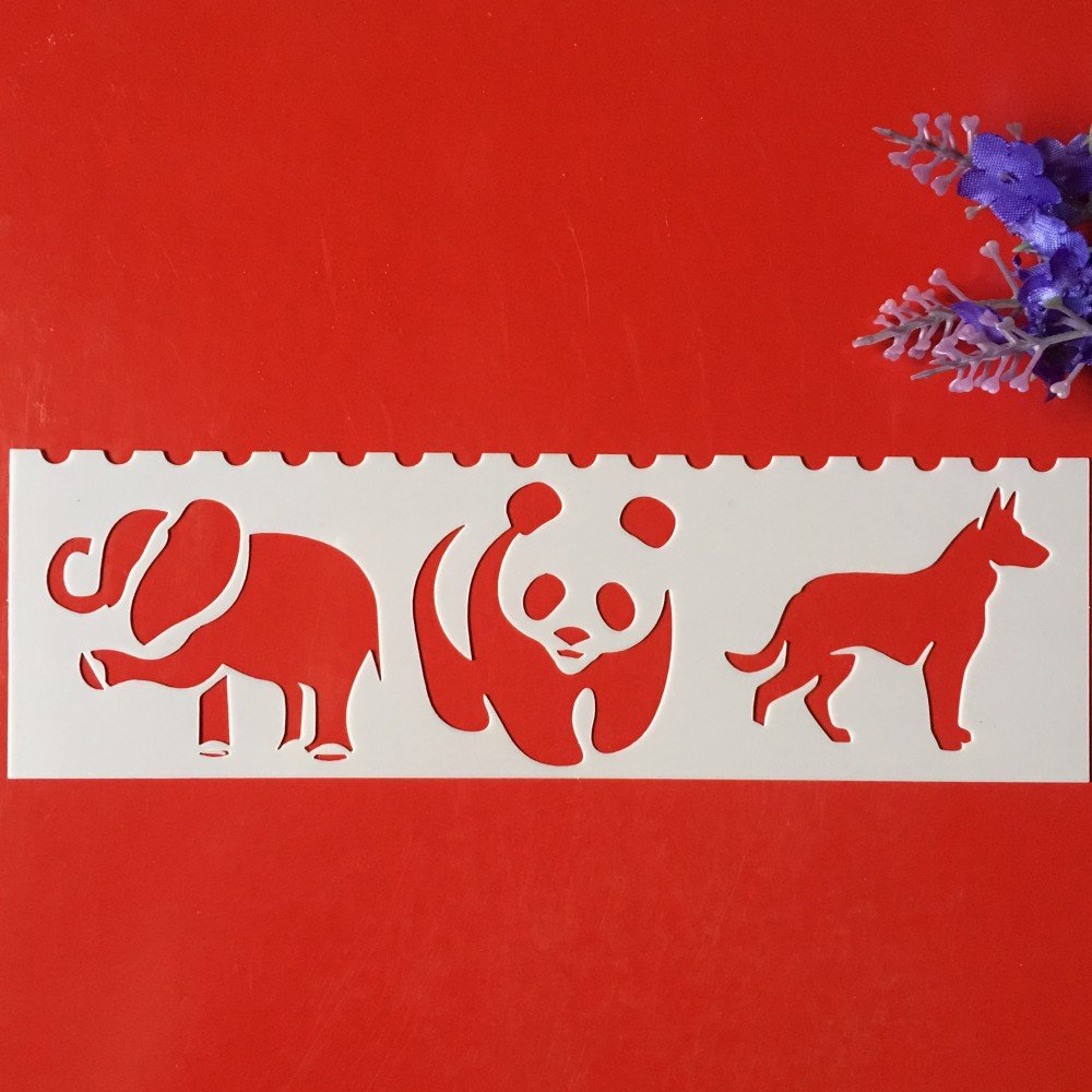 Hot 18x5cm Panda DIY Craft Layering Stencils Wall Paint Scrapbook Stamp Embossing Album Decorative Card Template