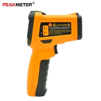 PEAKMETER PM6530C Infrared Thermometer Non Contact Digital Colorful Display Temperature Gun K Type Probe For Cooking