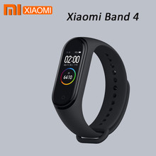 Original 2019 Newest Xiaomi Mi Band 4 Smart Miband 4 Bracelet Heart Rate Fitness 135mAh Color AMOLED Touch Screen Bluetooth 5.0