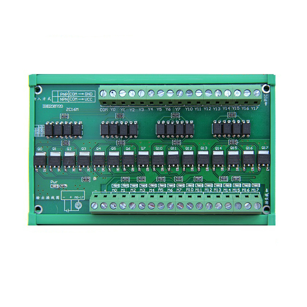 16 Ways NPN&PNP Input NPN Output PLC Terminal Blocks Amplifier Board Opto-isolated16 Ways NPN&PNP Input NPN Output PLC Terminal Blocks Amplifier Board Opto-isolated