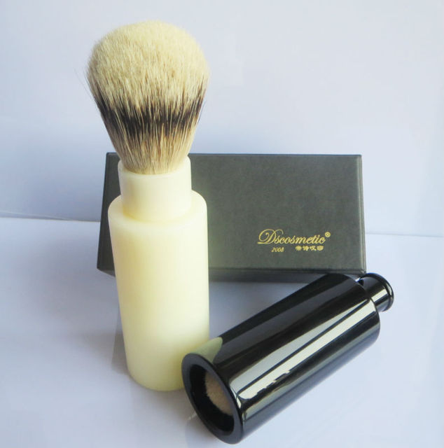portable travel silvertip  badger hair shaving brush with resin handle men's grooming kit china shaving brush