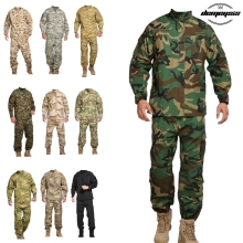 13 Color Army Military Tactical Uniform Shirt + Pants Camo Camouflage Combat Uniform US Army Men's Clothing Suit Airsoft Hunting недорого