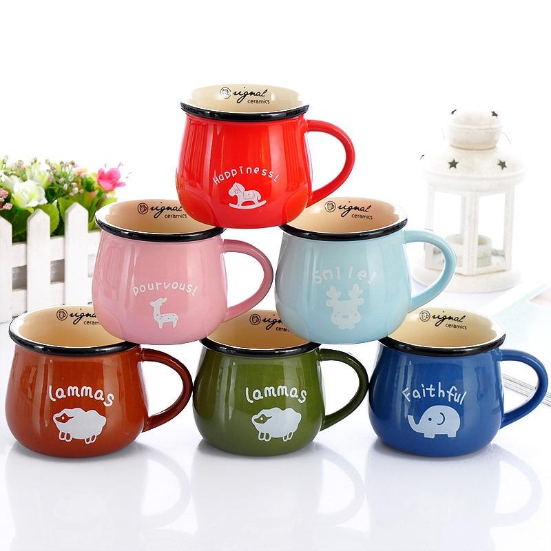1ks 350ml 150ml Značka pohár Kávový šálek keramický hrnek velkoobchod Mléko pohár Kalibra vody 9 / 6.5cm kuchyňské náčiní domácí dekor