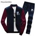 Mountainskin Men's Sportwear  Fashion Stand Collar Sweatshirts Men Tracksuit Sets Casual Clothes Sets Men Branded Clothing LA078
