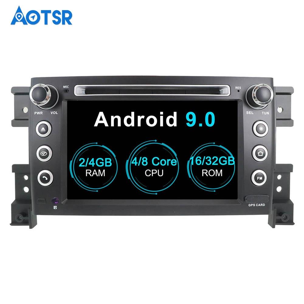 Lecteur DVD de navigation GPS de voiture Aotsr Android 9.0 pour SUZUKI GRAND VITARA 2006-2010 enregistreur radio multimédia navigation stéréo