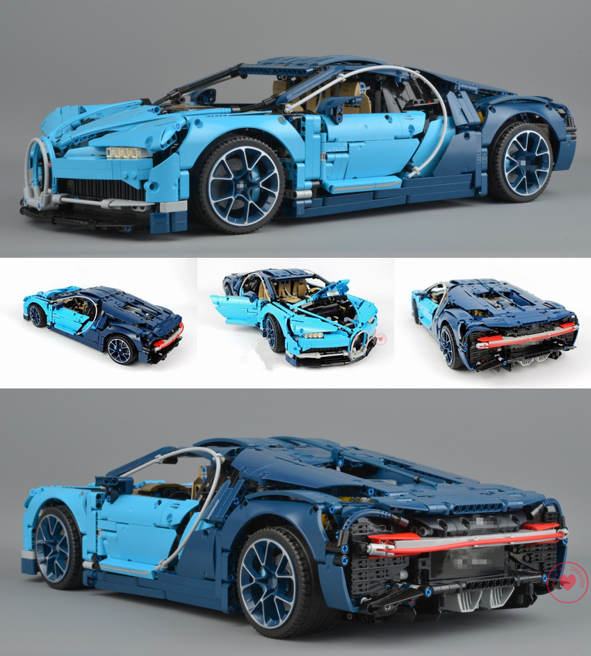 New Racing Car Blue speed Car fit legoings technic bugattied building model chiron city block Bricks Gift kid diy 42083 toys boy