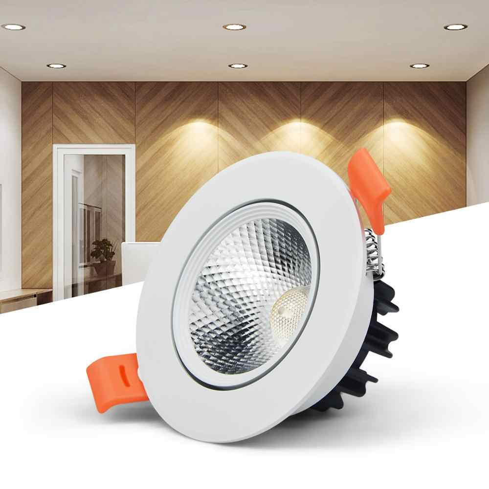 110V 220V COB LED lamp Recessed Ceiling Downlight 3W 5W 7W 9W 12W 15W 18W LED Spot light Bulb Bedroom Kitchen Indoor lighting