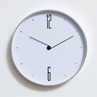 Wall Clock for Home Bedroom Livingroom Decoration 12 Inch Minimalist Modern White Wall Clock European Elegant Round Mute Clock