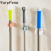 YuryFvna Vægmonteret Selvklæbende Mop Krog ABS Broom Holder Rack Opbevaring Hænger Mop Holder Opbevaring Broom Hook Rack Organizer