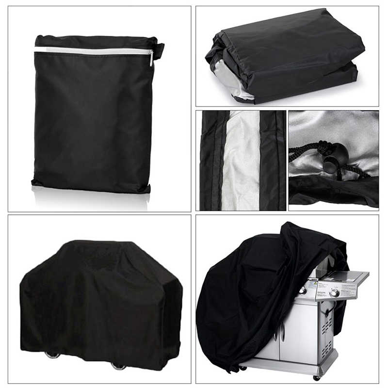NEW Arrival Black Waterproof BBQ Cover BBQ Accessories Grill Cover Anti Dust Rain Gas Charcoal Electric Barbeque Grill 4 Sizes