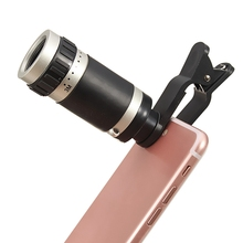 8 x18 HD Optical Zoom Lens Micro Telescope Mobile Phone Lens with Clip On Universal for iPhone 7 6 5 5s for Sasmung Note Xiaomi