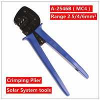 MXITA A-2546B (MC4) herramienta de prensado alicates 2 herramientas multi herramientas manos Solar fotoroltaic conector MC3/MC4 herramienta de prensado