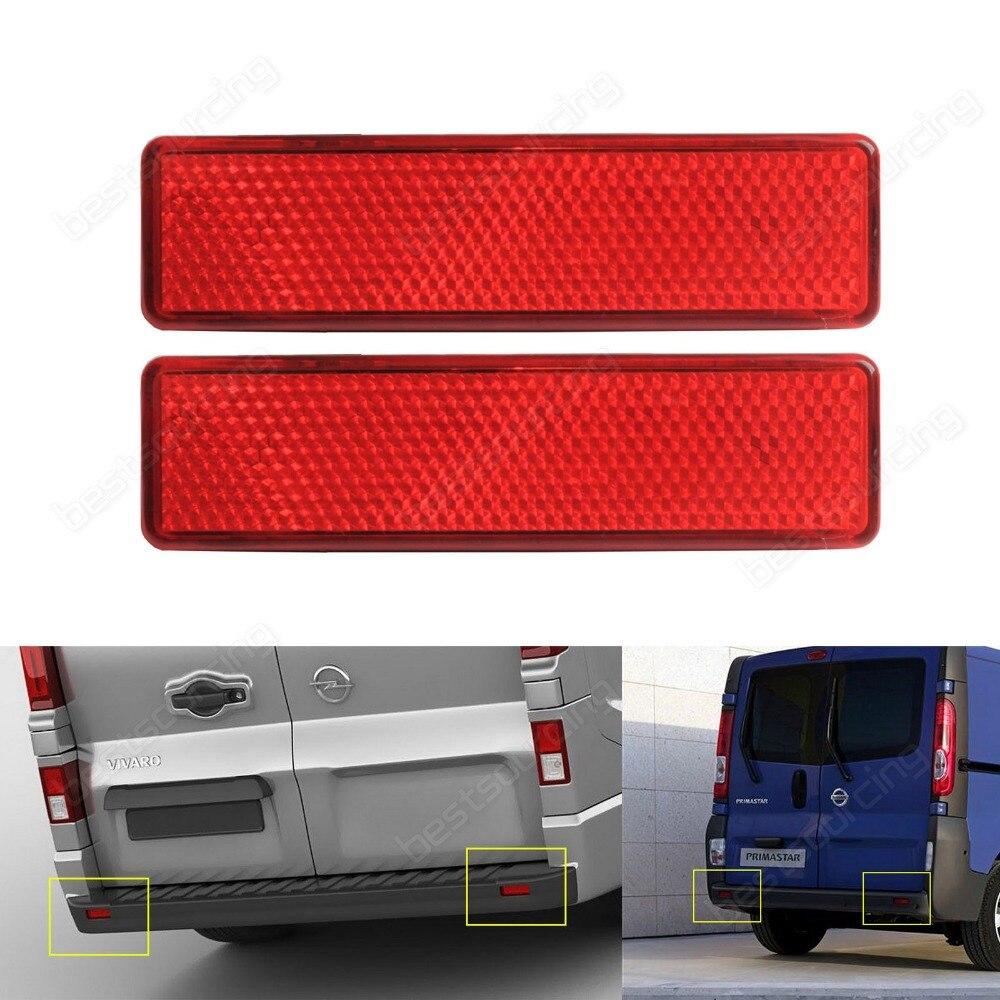 For Vauxhall Opel Vivaro Movano Red Lens OEM Rear Bumper Reflector Light Left Right(CA329)