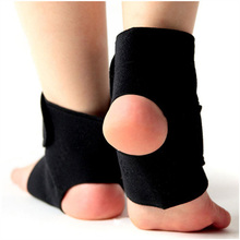 New 1Pair Self-heating Tourmaline Far Infrared Magnetic Therapy Ankle Support Brace Massager Free Shipping