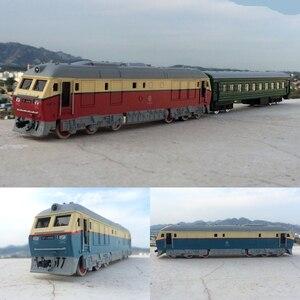 Image 1 - גבוהה סימולציה רכבת, 1: 87 קנה מידה סגסוגת למשוך בחזרה Dongfeng רכבת זוגית, מרכבה, קרוואן, cars צעצוע, משלוח חינם