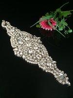 Ajuste nupcial del rhinestone moda Recortes vestido de boda rhinestone Appliques para la decoración nupcial