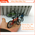 (10PCS/LOT) Aluminum Alloy + ABS Mode Finger Bike Toy Mini Finger Bicycle Toys Diecast Model Toy Red/Green/Blue Free Shipping