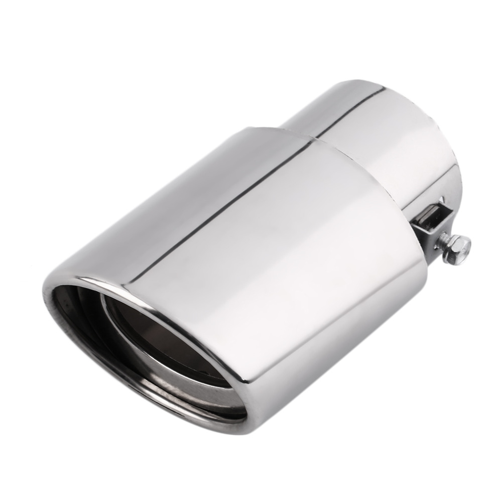 New Universal Chrome Stainless Steel Car Rear Round Exhaust Pipe Tail Muffler Tip uk Hot Sale Car Accessories