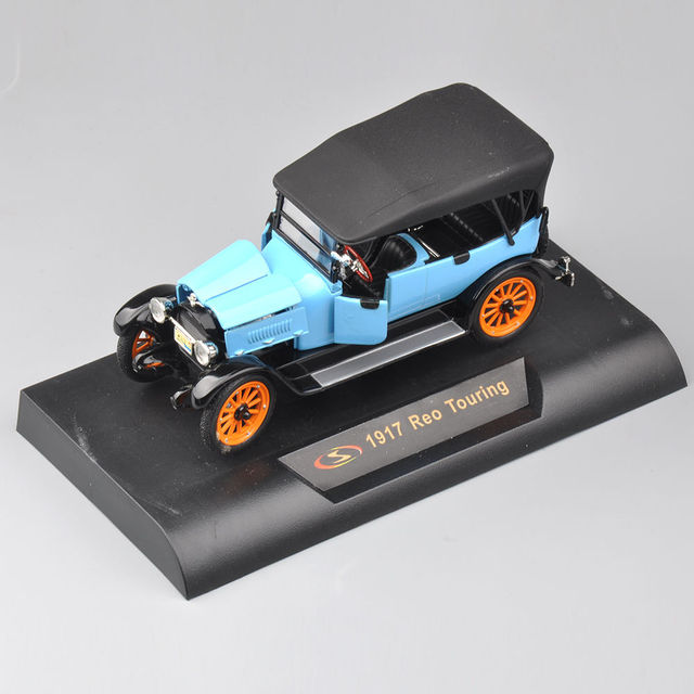 New Arrivel 1/32 Diecast Car Model Toys Black&Blue 1917 Reo Touring Classic Car Kids Toys Gifts Collections