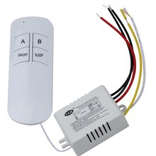 ABS Wireless ON/OFF Ways 220V Lamp Remote Control Switch Receiver Transmitter