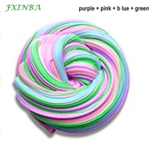 FXINBA 60ml/box Mixed Color Slime Fluffy Toys Soft Polymer Clay Lizun Supplies DIY Fimo Fruit Slices Plasticine Antistress