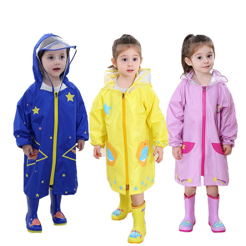 298671372 Cheap Poliéster niños impermeable con capucha capa transpirable  transparente impermeable abrigo de los niños Poncho de
