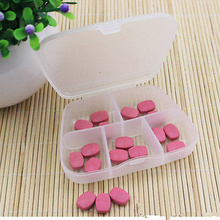 Plastic 5 Slots Medicine Tablet  Jewelry Storage Box Case Craft Organizer Beads