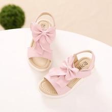 2017 summer new Korean wild girl sandals children bow princess shoes big child student sandals fashion kids beach shoes