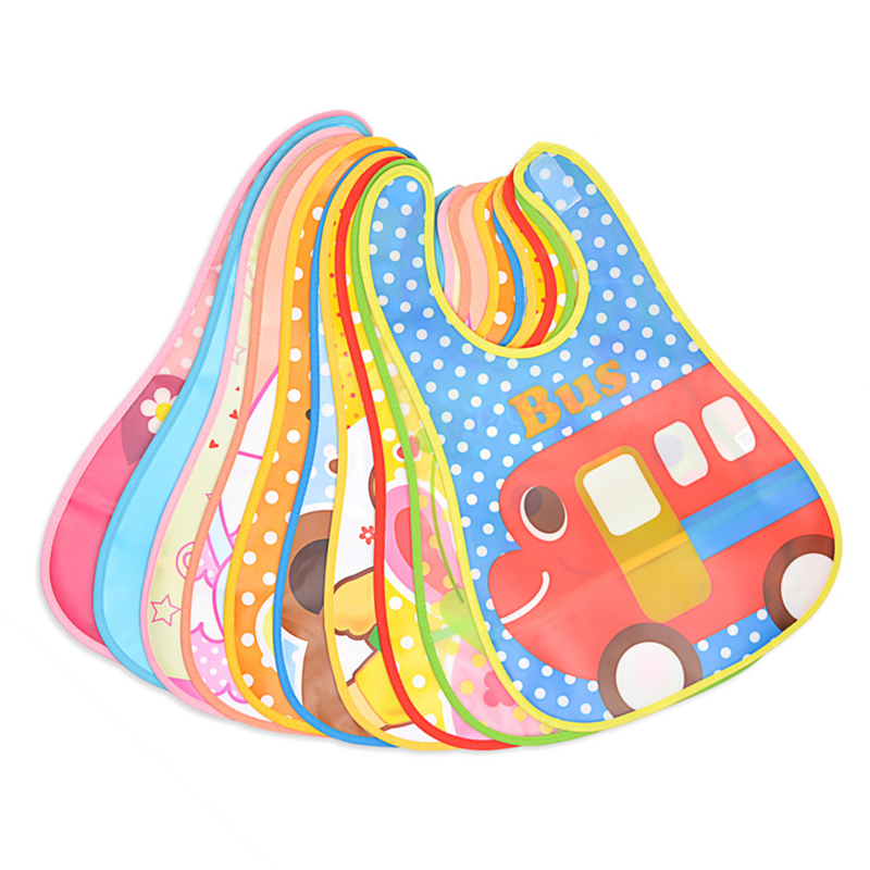 eTya Adjustable Baby Bibs EVA Plastic Waterproof Lunch