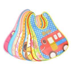 Регулируемые детские нагрудники EVA пластиковые непромокаемые нагрудники для обеда Детские Мультяшные нагрудники для кормления Детские