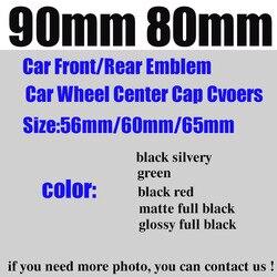 רכב סטיילינג קדמי/אחורי סמל 90mm 80mm גלגל מרכז שווי 135mm/65mm/64 mm/60mm/56mm ירוק/שחור כסוף אוטומטי אבזרים