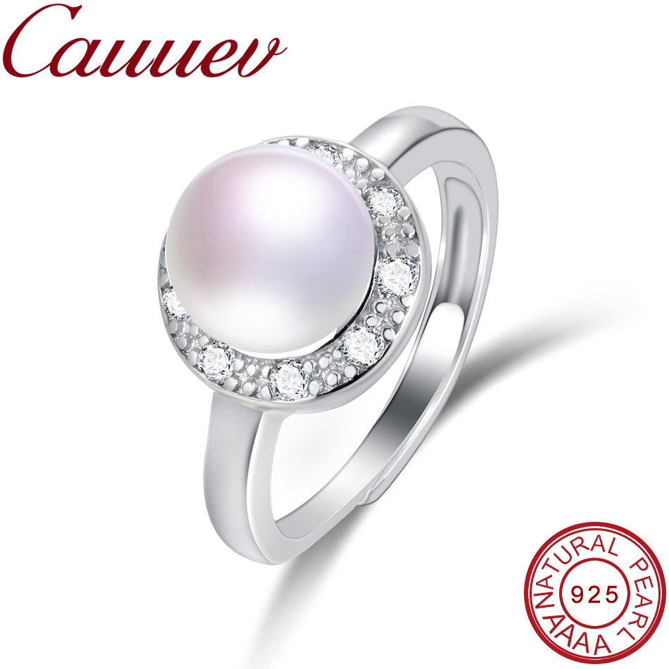 Cauuev female ring,adjustable natural pearl ring engagement jewelry engagement ring women girl wedding event jewelry accessoriesCauuev female ring,adjustable natural pearl ring engagement jewelry engagement ring women girl wedding event jewelry accessories