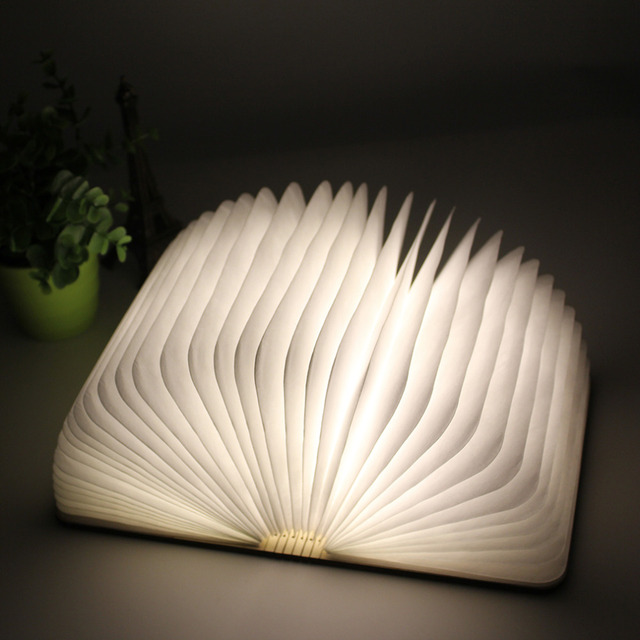 Book Style LED Folding Lamp decorate table light Present Popular New