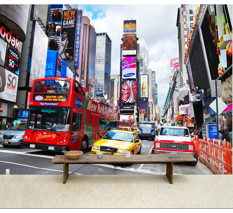 Commercial Wallpapers: Aliexpress.com : Buy Times Square New York Living Room TV