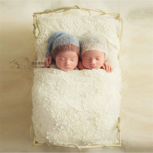 Photo Studio Newborn Props Bed Vintage Wrought Iron Cot Newborn Posing Baby Photography Props for Photo Shoot Girl Posing Sofa недорого