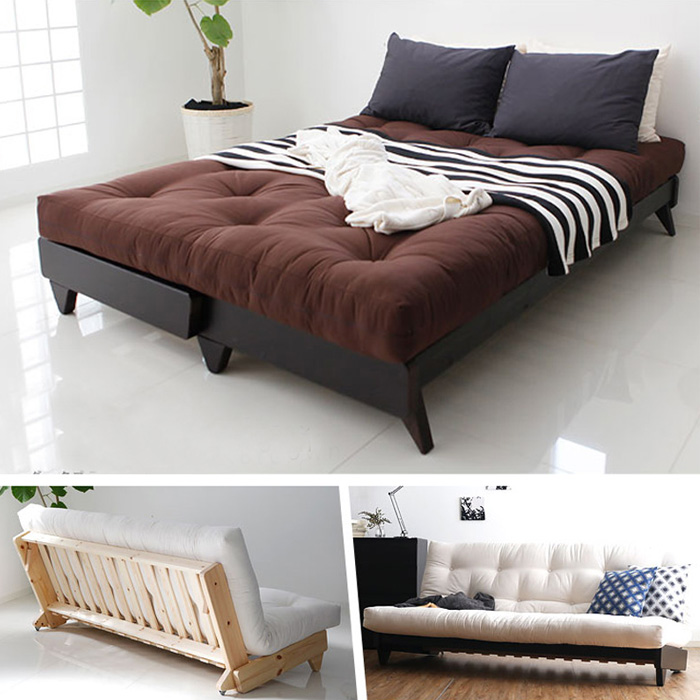wood folding sofa bed double convertible sofa bed