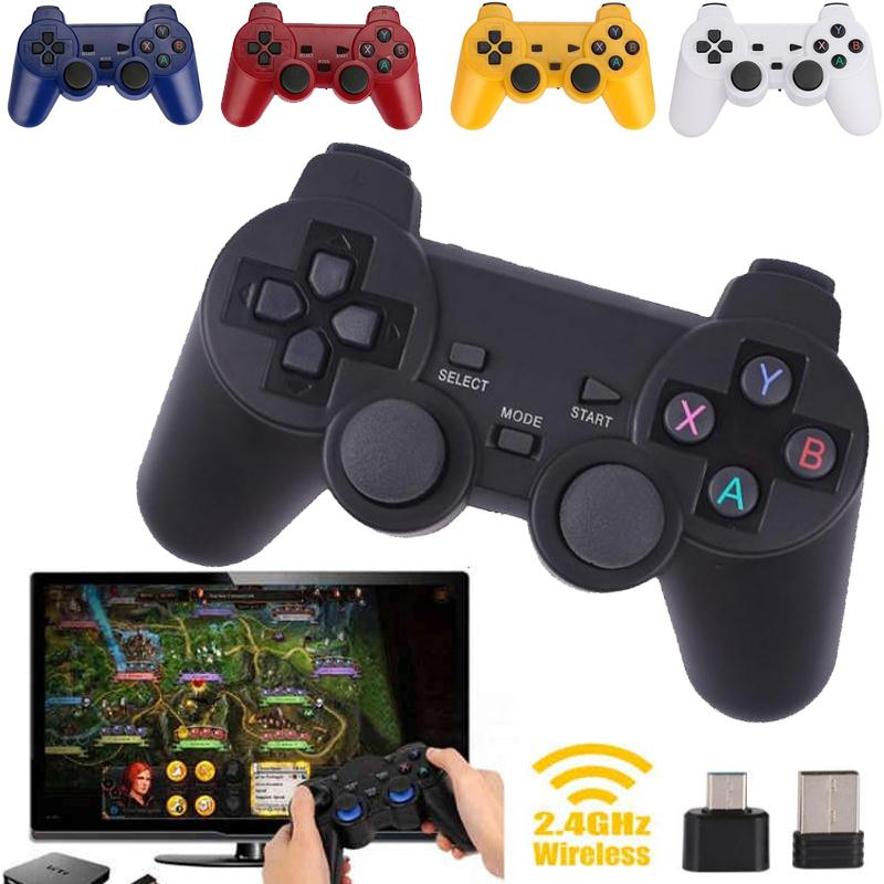 2.4G Wireless Type-C Game Controller Joystick Gamepad OTG Receiver For xiaomi Android Smart Phone For PS3 Game Console 5 colors 2 4g wireless type c game controller joystick gamepad otg receiver for xiaomi android smart phone for ps3 game console 5 colors