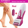 Red smooth strong electric pedicure tool Foot Care Cleansing Exfoliating Foot Care Tool +2pcs roller heads For scholls function
