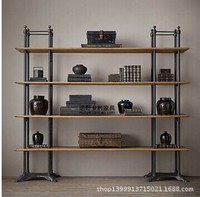 Retro style wood shelf bookcase shelf wall mount wall shelving American wholesale Hot
