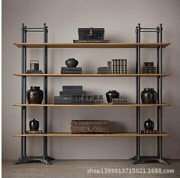 Retro-style wood shelf bookcase shelf wall mount wall shelving American wholesale Hot
