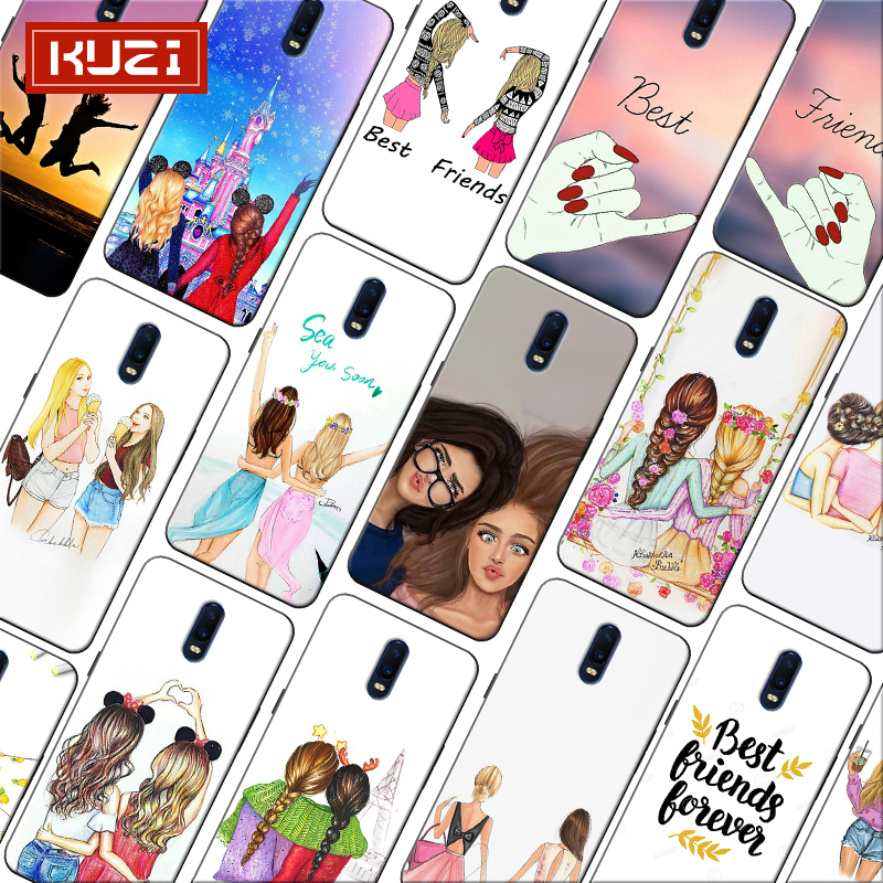 Best Friends Forever lovers couple Girls Bff Soft Silicone Phone Case for font b oneplus b