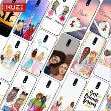 Best Friends Forever lovers couple Girls Bff Soft Silicone Phone Case for oneplus one plus 7 pro 7 6 6t 5t