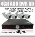 1080 p 4CH AHD Kit DVR Sistema De CFTV 1080 P 1080n Híbrido 960 h CCTV DVR Recorder 720 P ao ar livre AHD câmera de Segurança Do Sistema