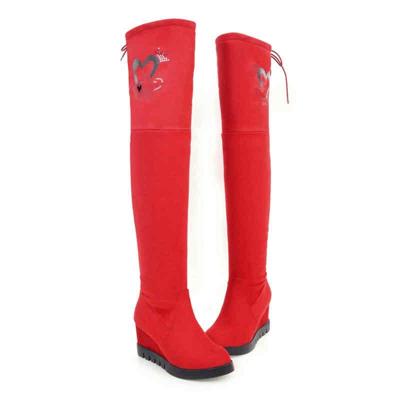 MORAZORA 2020 ใหม่มาถึงเข่ารองเท้าผู้หญิงแพลตฟอร์มรองเท้าคริสตัล Elegant ฤดูใบไม้ร่วงฤดูหนาวรองเท้า
