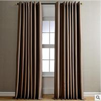 Solid Modern Cotton Linen Blackout Curtains Drapes For Living Room Blinds 4 Color French Window Curtains