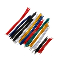 130Pcs/Set 13 Value 24AWG Breadboard Jumper Cable Wire Kit Double Tinned Colorful Connectors