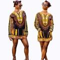 Африканский Платье Хлопка Женщин 2016 Новая Мода Осень И Печатных Большой Одежды Африканский Национальный Тотем С Длинными рукавами платье