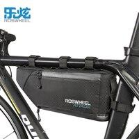 ROSWHEEL ATTACK 2017 100% wodoodporna torba na rower akcesoria rowerowe przechowywanie przednia rama Tube trójkątna torba rowerowa mocno zainstaluj w Torby i sakwy rowerowe od Sport i rozrywka na