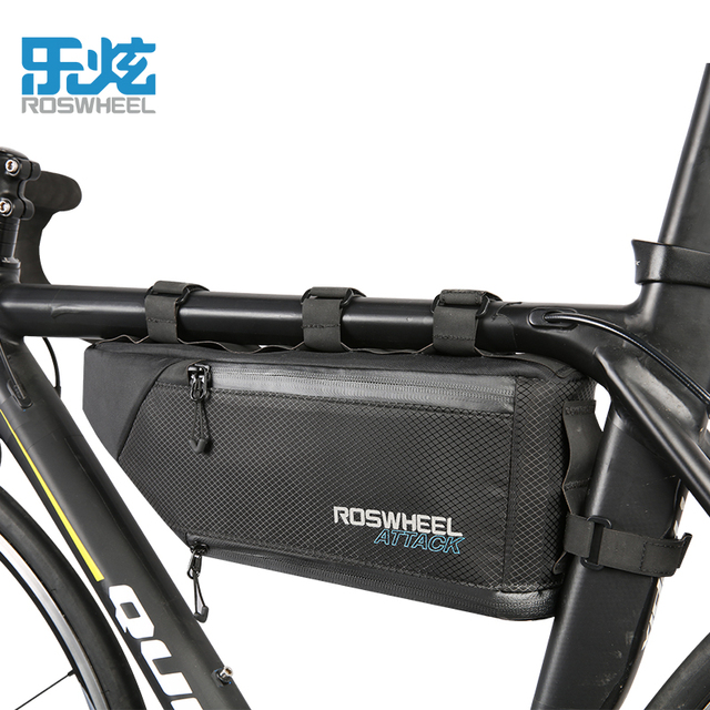 Roswheel Waterproof Bicycle Bag Storage Front Frame Triangle Cycling Firmly Install Bike Accessories